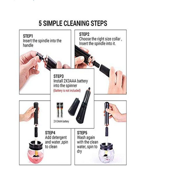 Portable Electronic Automatic Brushes Cleaner