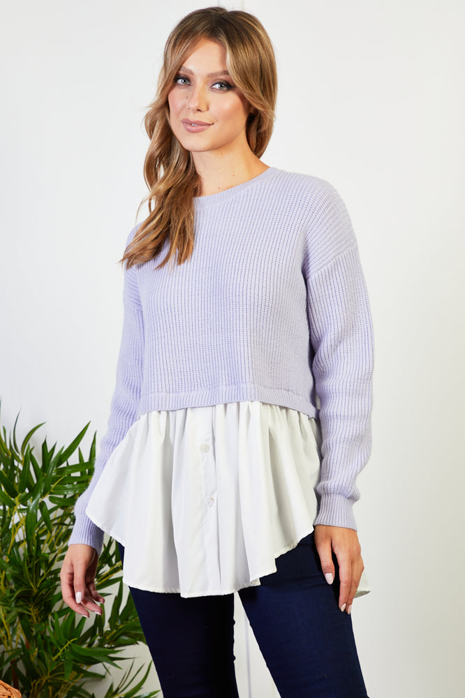 Bianca lilac  All In One Shirt Jumper