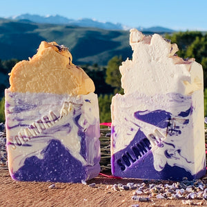 Colorado Infused Lavender Natural Soap - yellow or white top