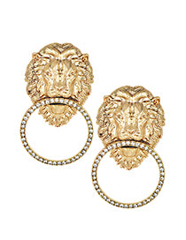 Designer inspired lion earrings