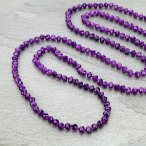 Handtied Beaded Necklace Long 60""