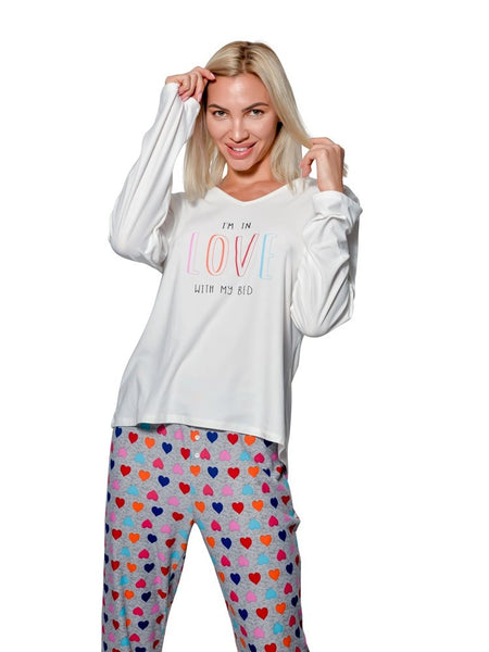 Body Touch Women Plus Size Pajamas Set Ultra Soft  2 Piece PJs Shirt & Pants