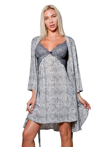 Eecarrental Robe & Chemise 2 Piece Set