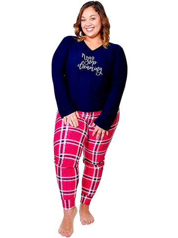 Eecarrental Women Plus Size Pajamas Set 2 Piece Top and Bottom Super Soft 1X-3X Lounge Sleepwear Nightgown PJs