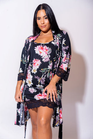 Body Touch Robe & Chemise 2 Piece Set