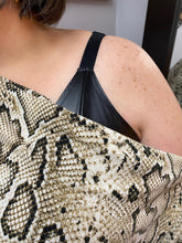 Load image into Gallery viewer, Snake print boatneck top