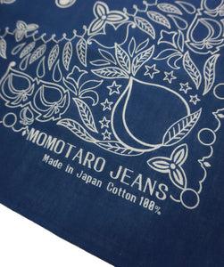 Momotaro Jeans, Japanese selvedge Denim, Bandana, made in Okayama Japan raw denim, Aitora Spain.
