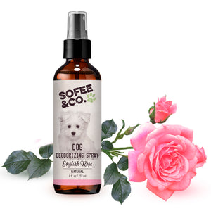 Natural Dog Deodorizing Spray - English Rose
