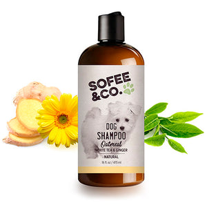Natural Oatmeal Dog Shampoo - White Tea & Ginger
