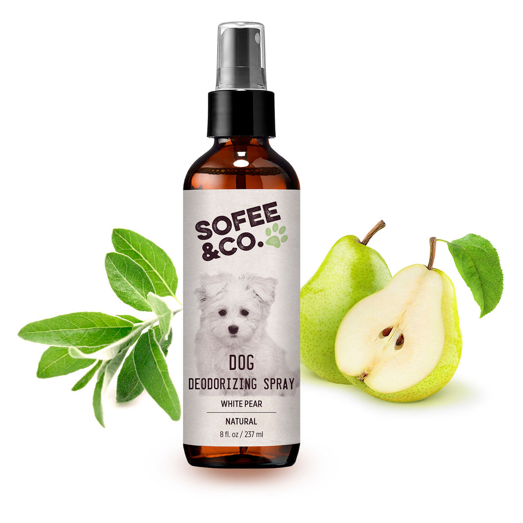 Natural Dog Deodorizing Spray - White Pear