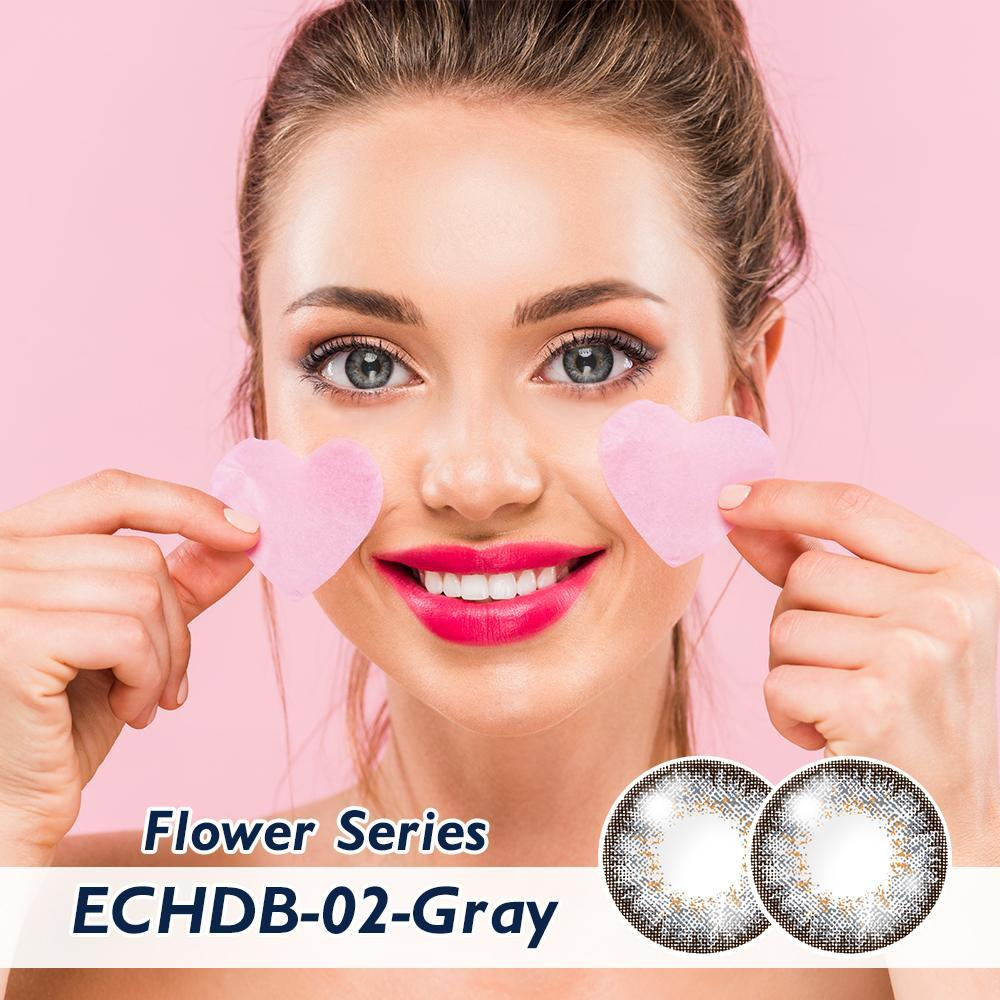 CLM™ Elliecoo Flower Series Contact Lenses Dark Gray Contact Lenses