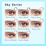 CLM™ Elliecoo Starry Sky Series Contact Lenses Starry Olive Contact Lenses