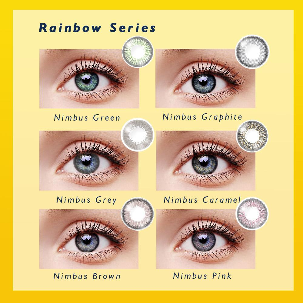 CLM™ Elliecoo Rainbow Series Contact Lenses Nimbus Grey Contact Lenses