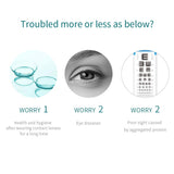 Elliecoo Multifunctional Nursing Solution for silicone Hydrogel And Soft Contact Lenses To Strengthen Comfort And Moisture (2.0 fl oz, 60 ML)