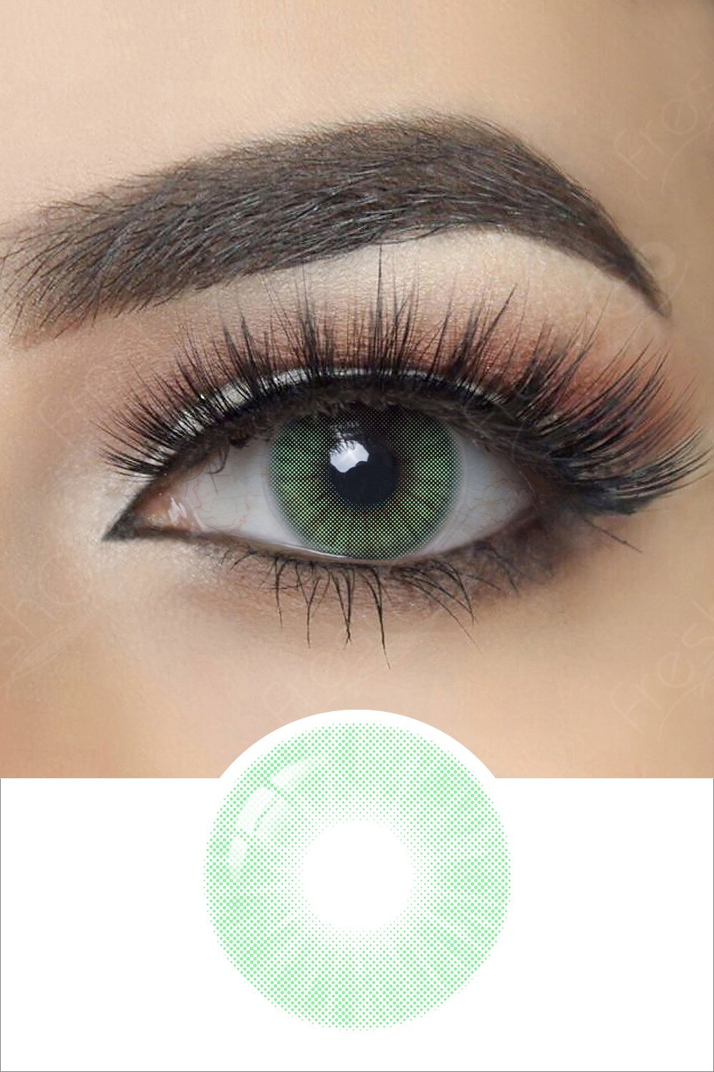 Hidrocor Verde Green Colored Contacts