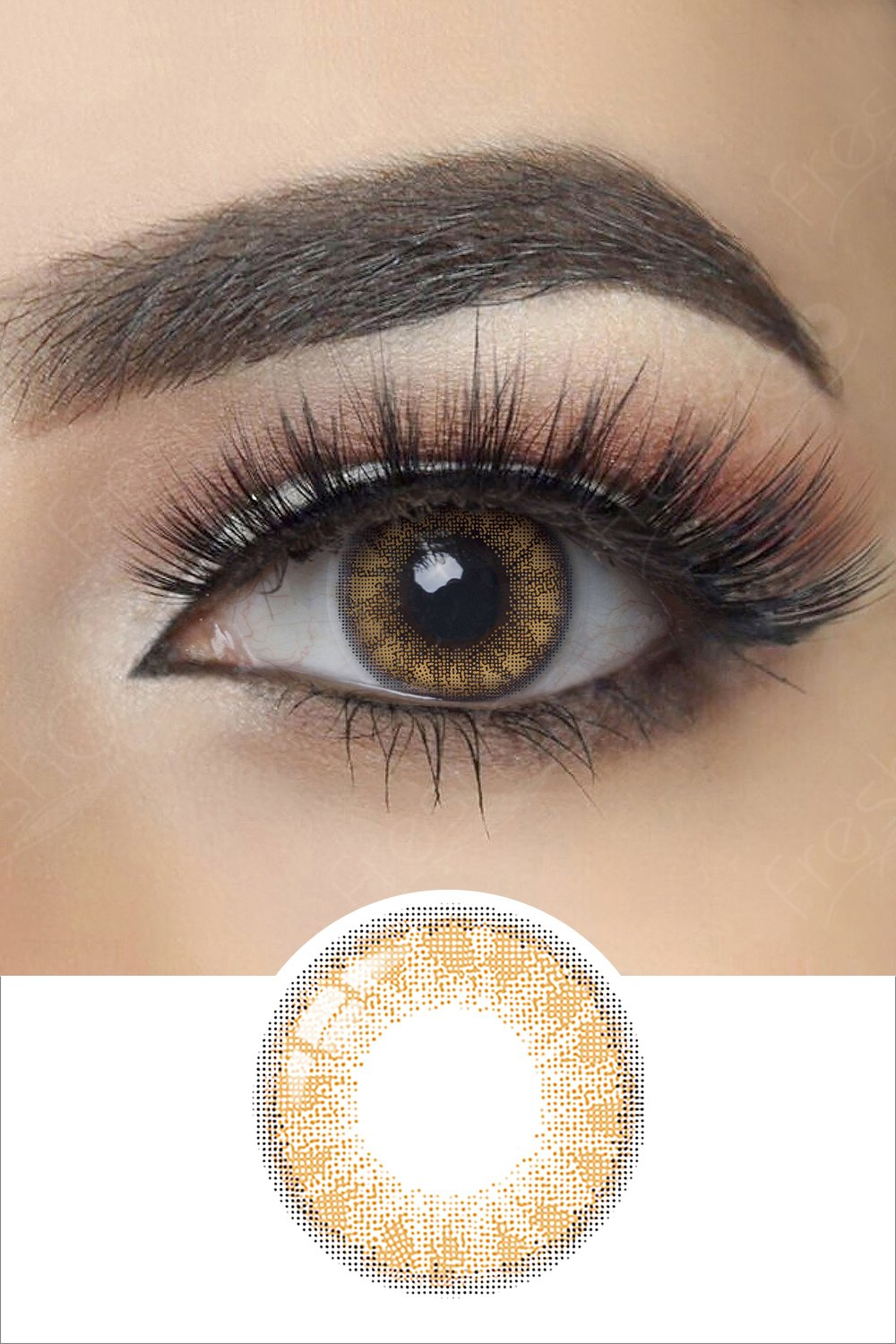 Glass Ball Brandy Brown Colored Contacts