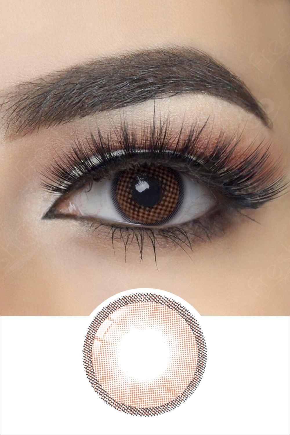 Hidrocharme Ocre Brown Colored Contacts