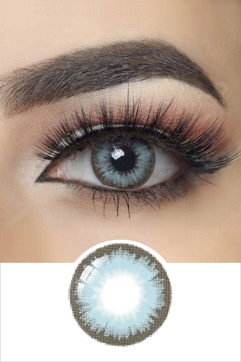 Diamond Pacific Blue Colored Contacts