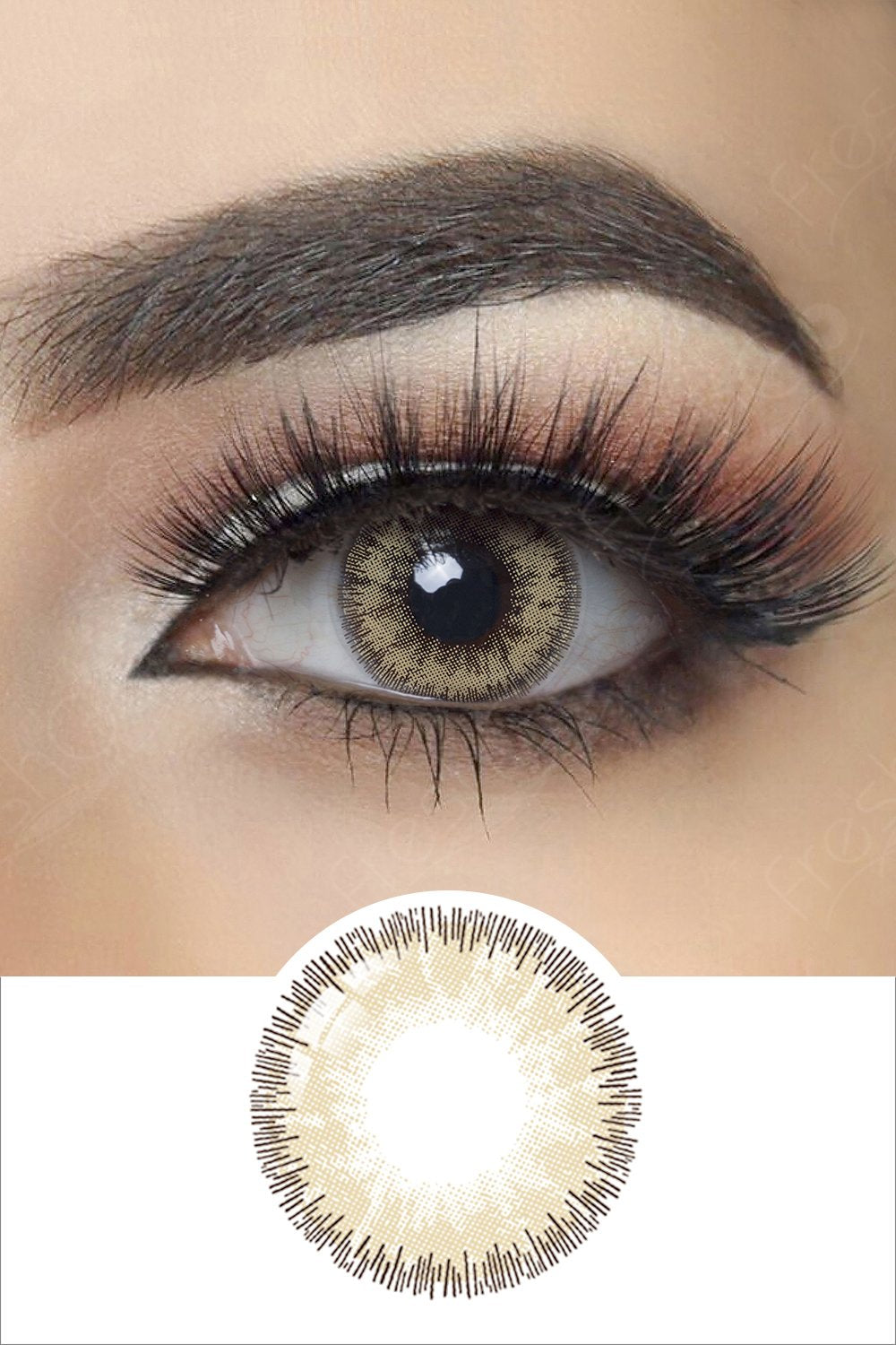 Glow Radiant Brown Colored Contacts