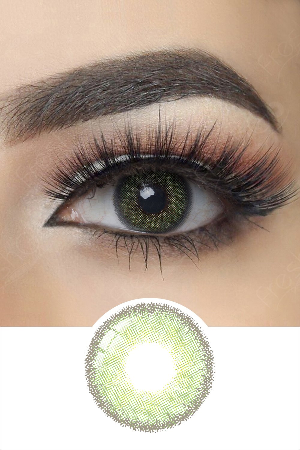 Premium Candy Green Colored Contacts