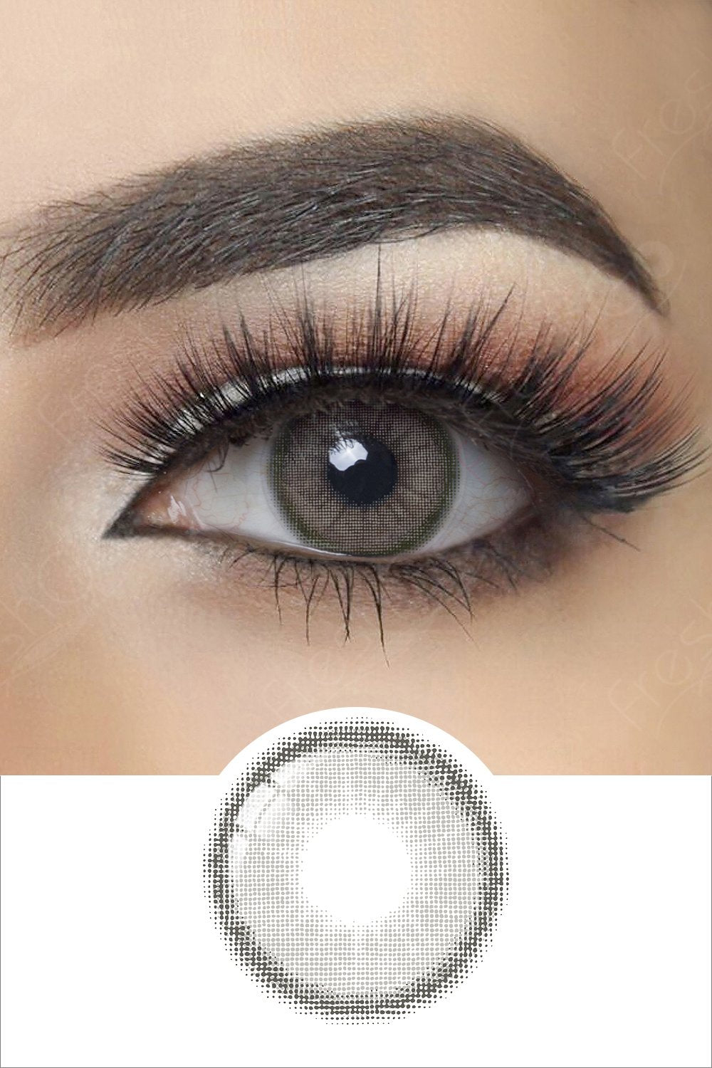 Canna Roze Charcoal Gray Colored Contacts