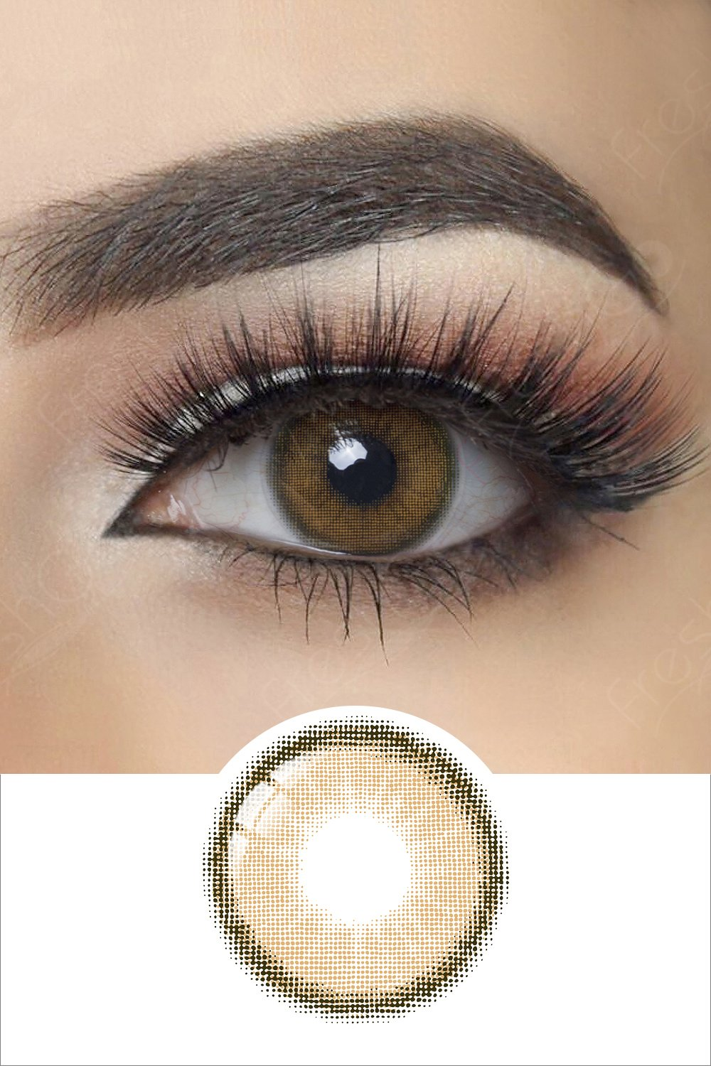 Canna Roze Beige Brown Colored Contacts