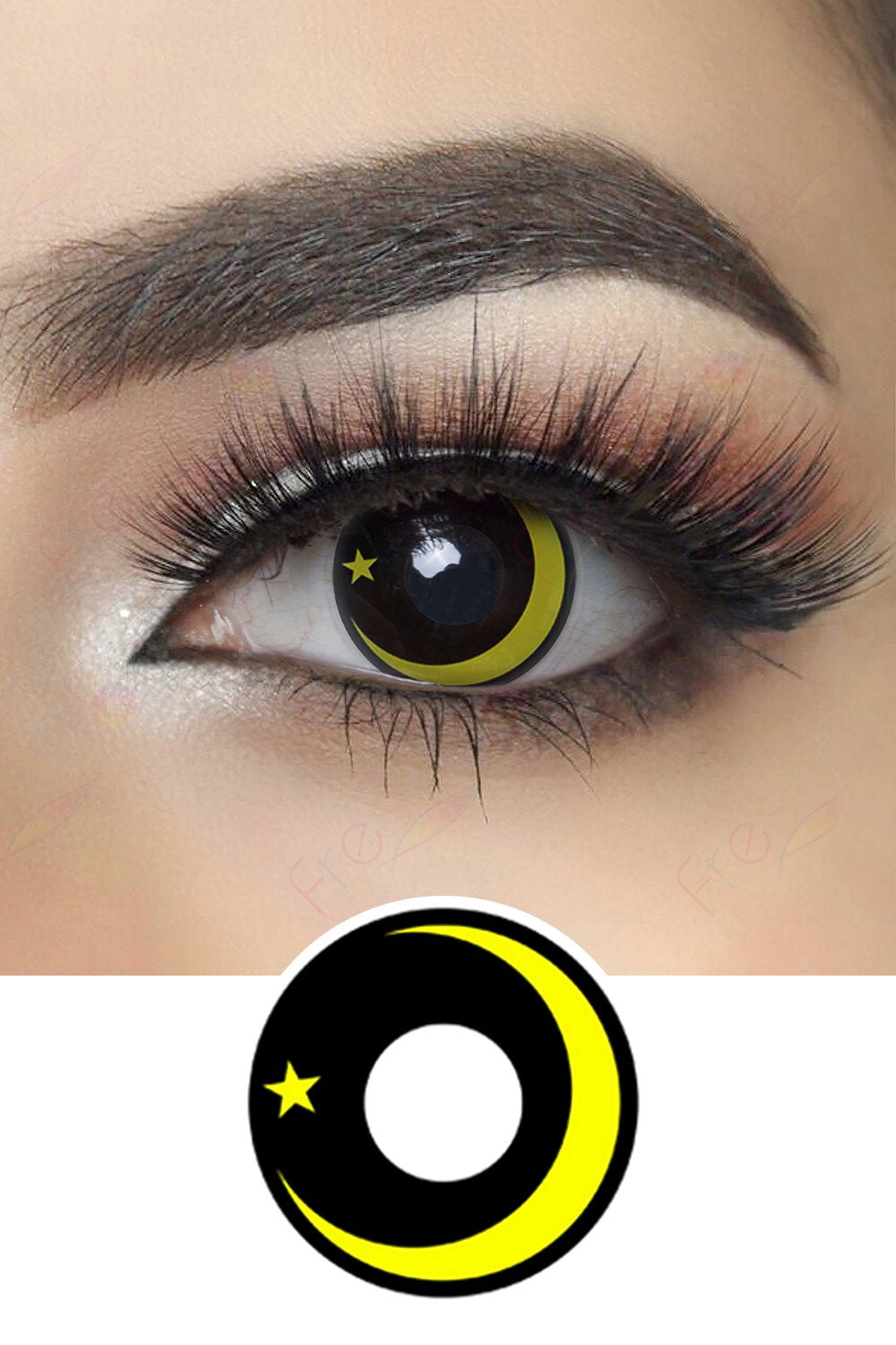 Yellow Galaxy Halloween Contacts