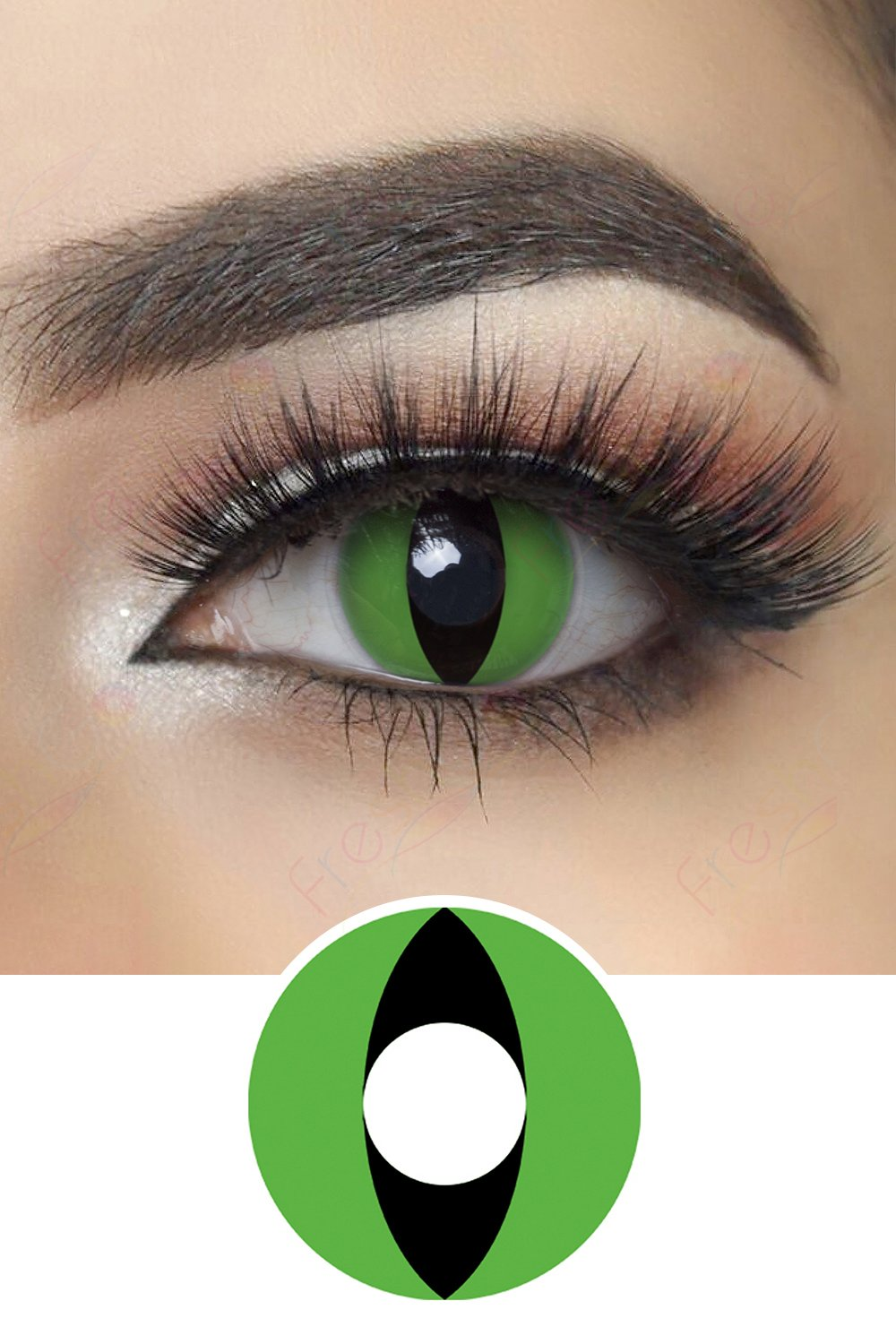 Green Cat Eye Halloween Contacts