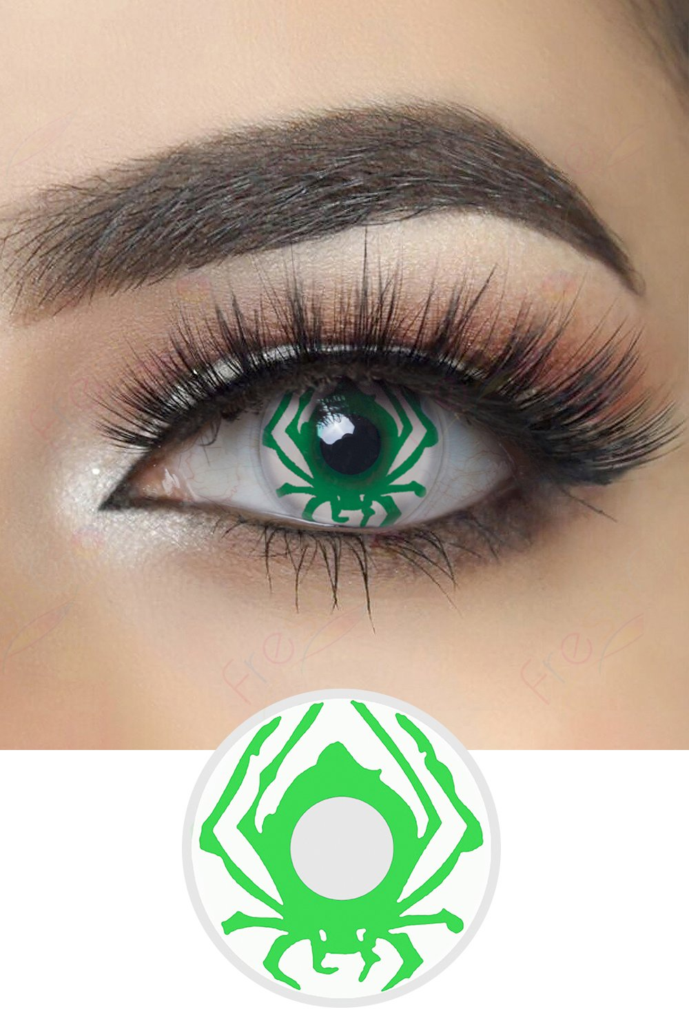 Green Spider Halloween Contacts