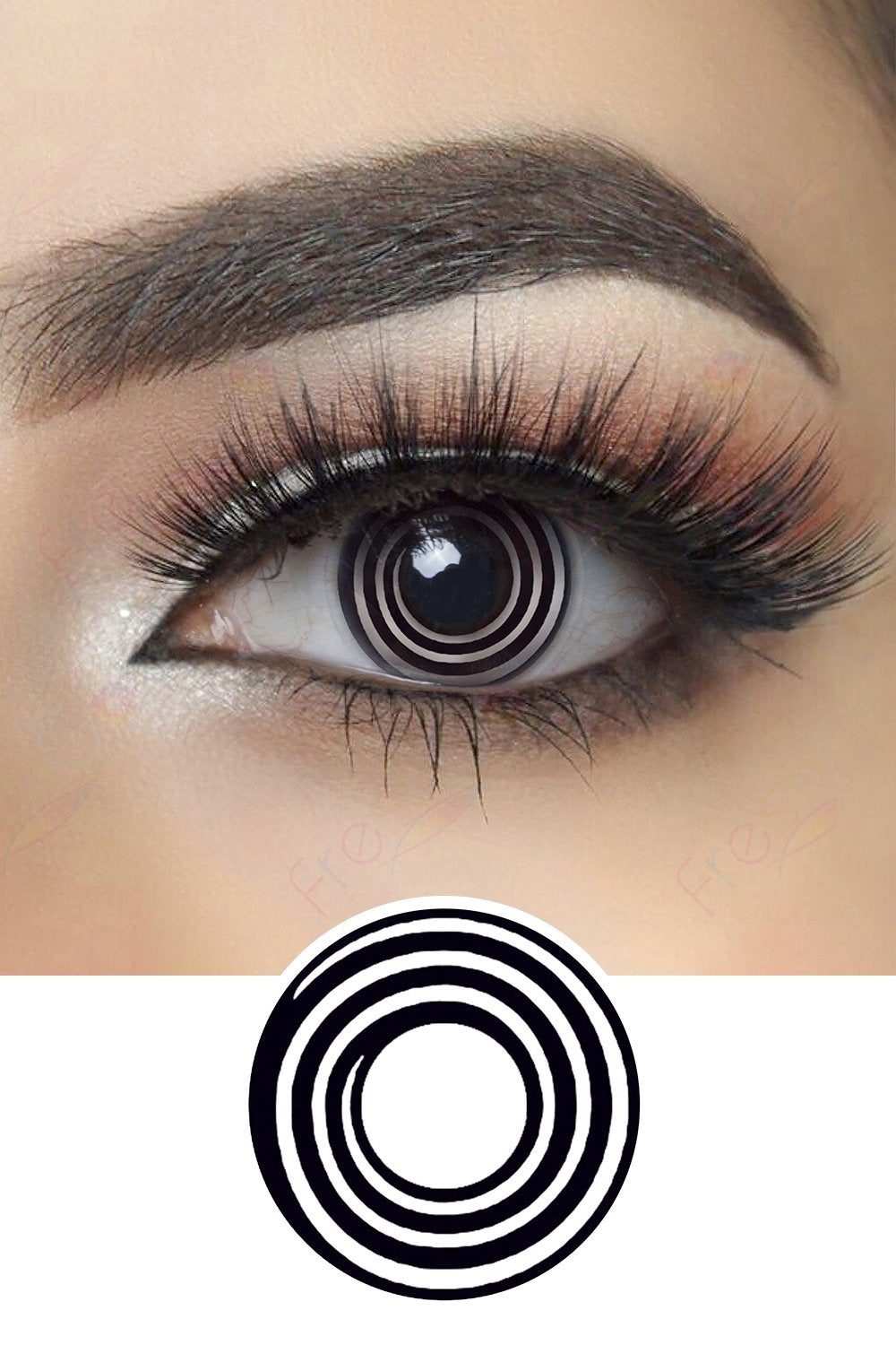 Black Spiral Halloween Contacts
