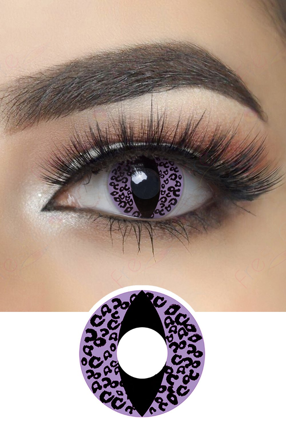 Violet Cheetah Cat Eye Halloween Contacts