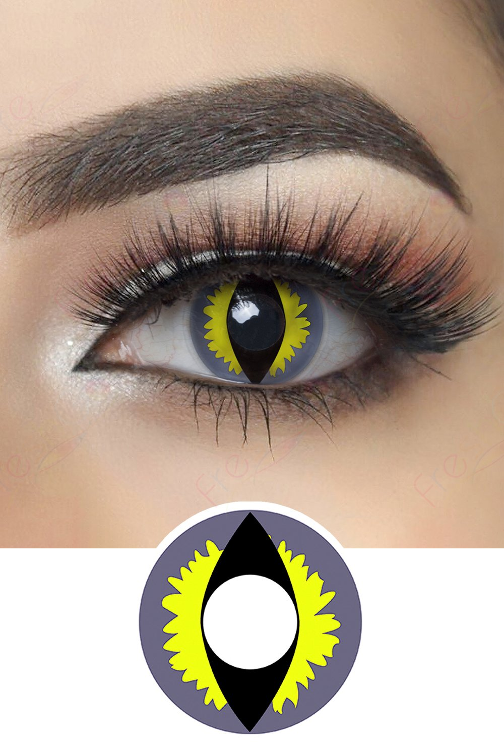Blue Dragon Eye Halloween Contacts