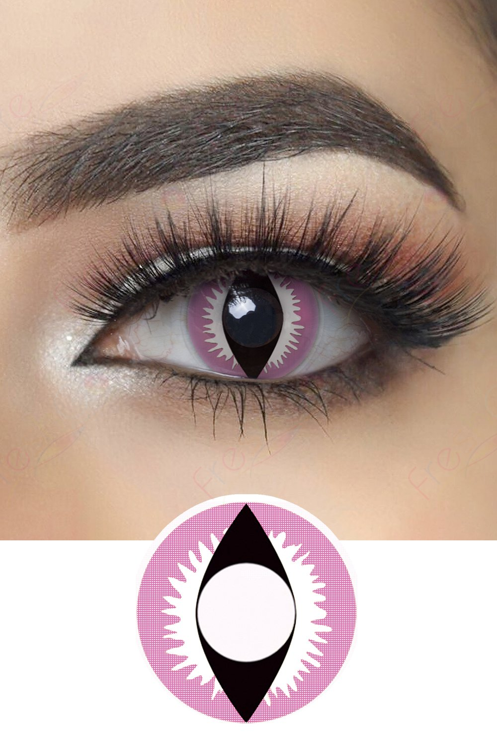 Pink Dragon Eye Halloween Contacts