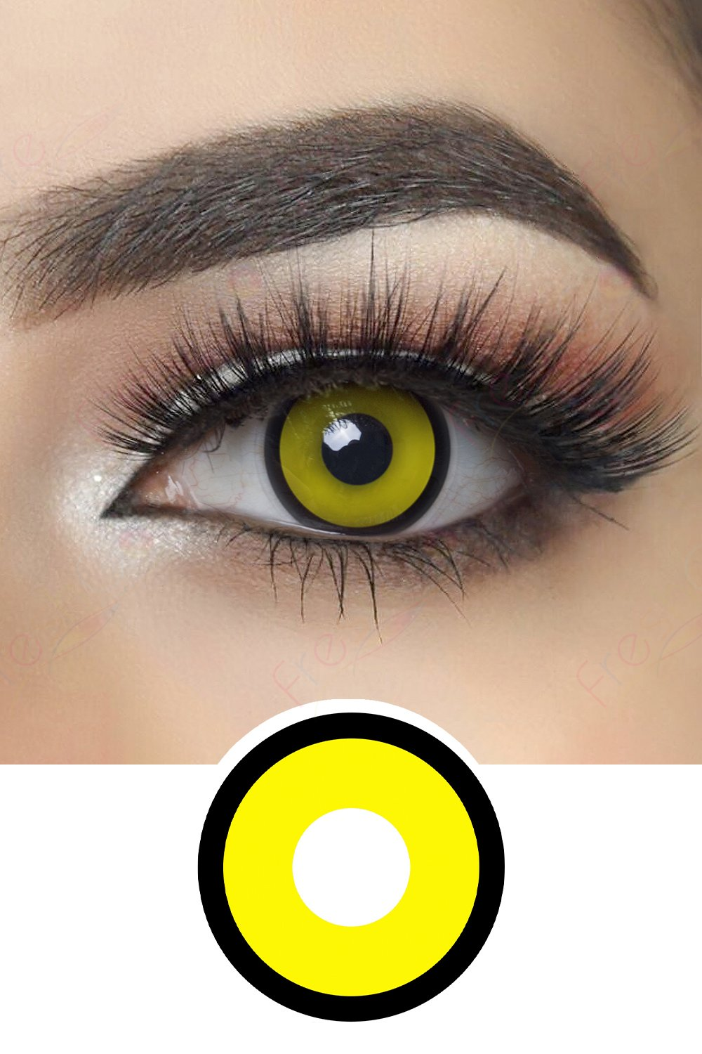 Yellow Manson Halloween Contacts