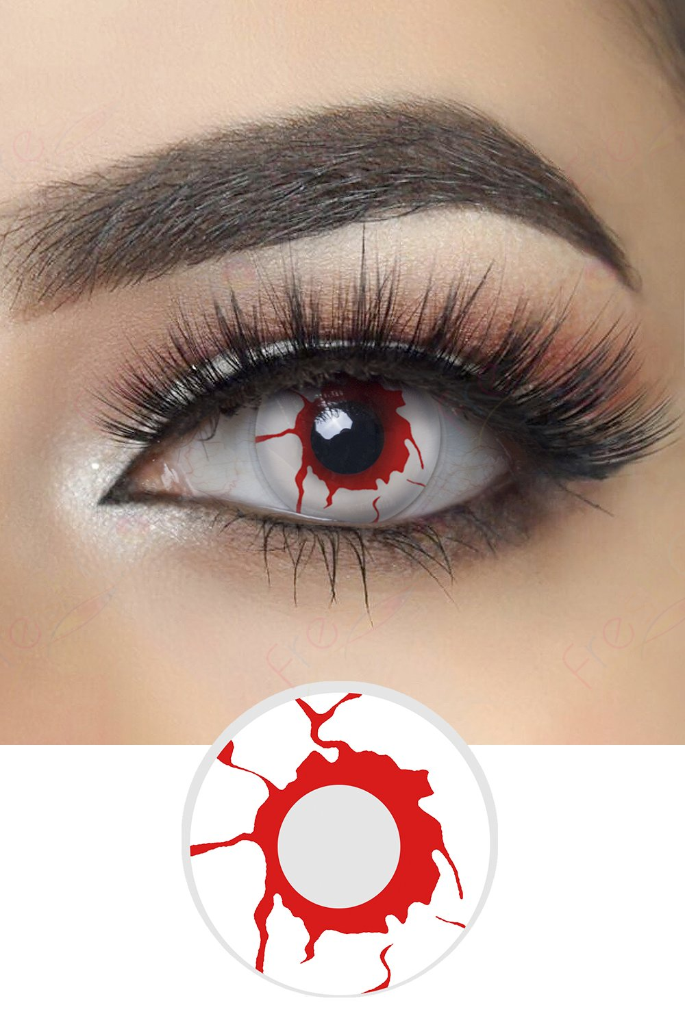 Blood Shot Halloween Contacts