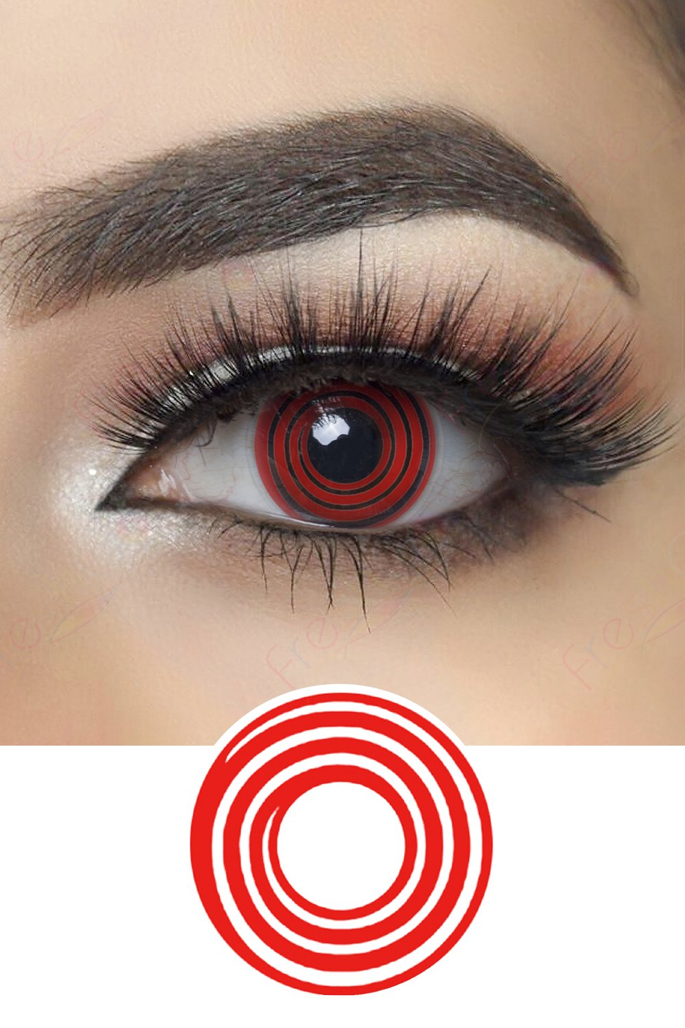Red Spiral Halloween Contacts