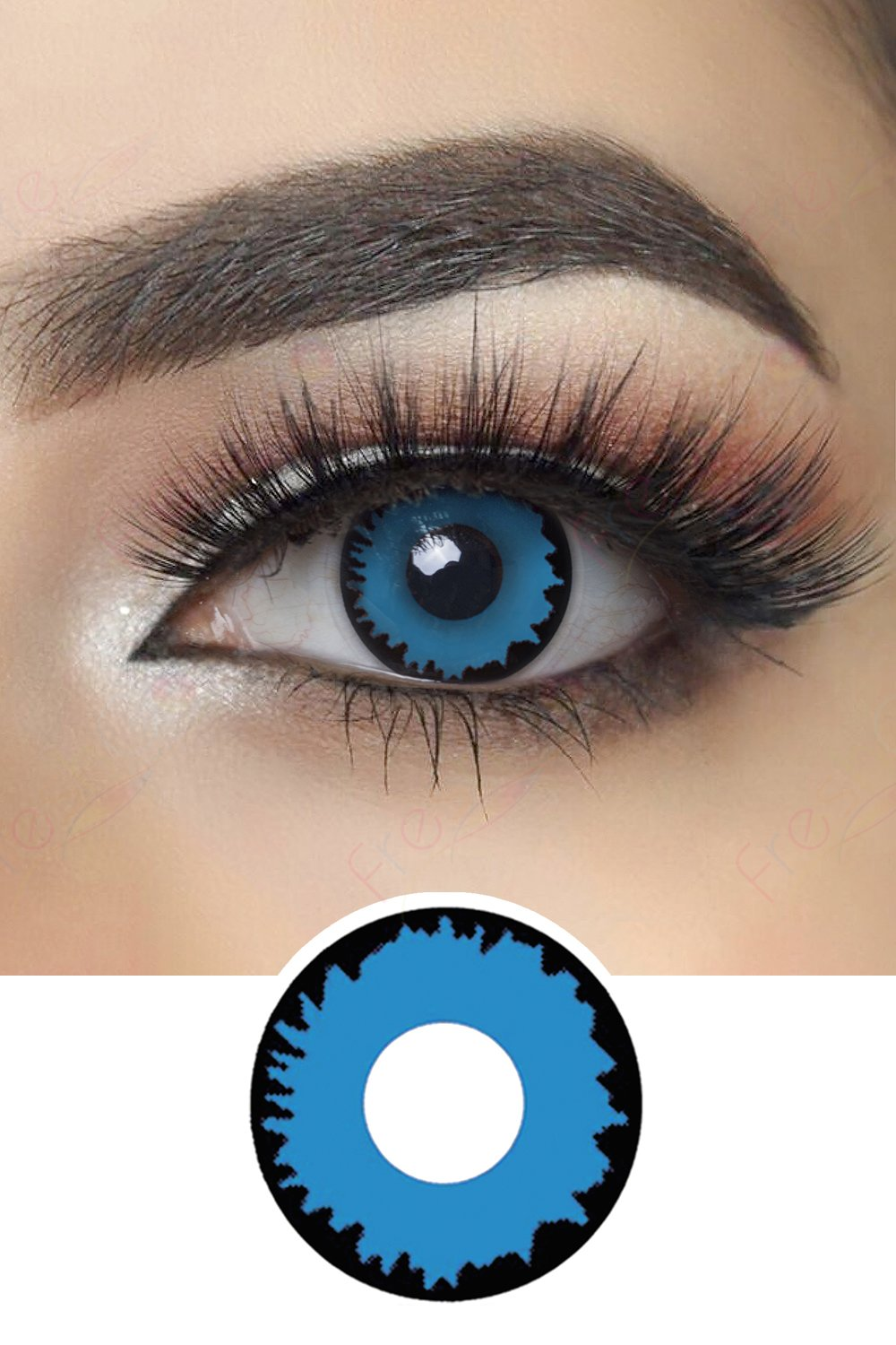 Blue Pixie Halloween Contacts