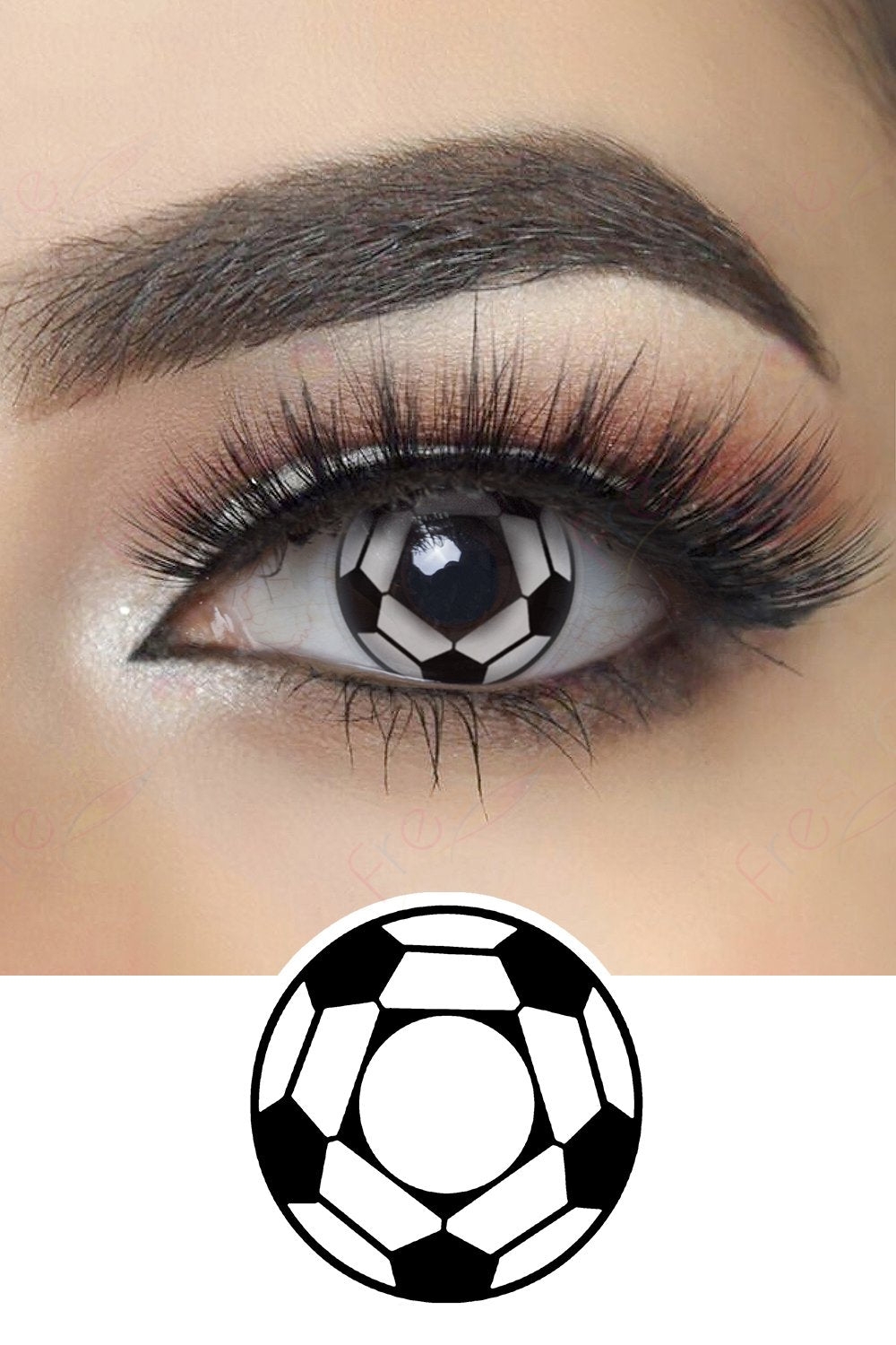 Soccer Halloween Contacts