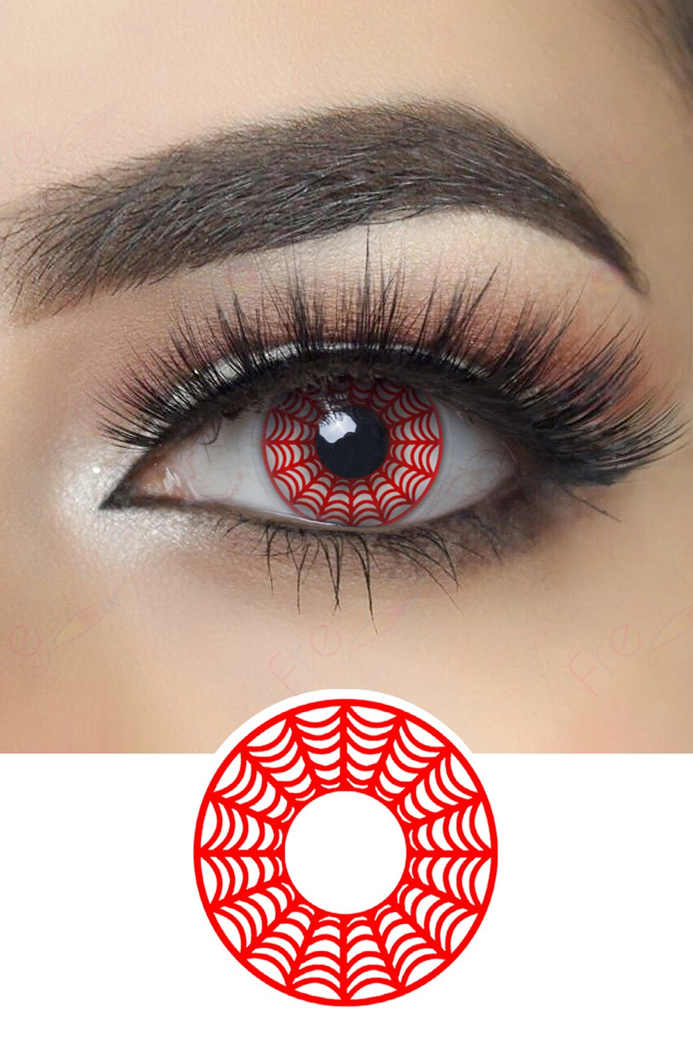Red Web Halloween Contacts