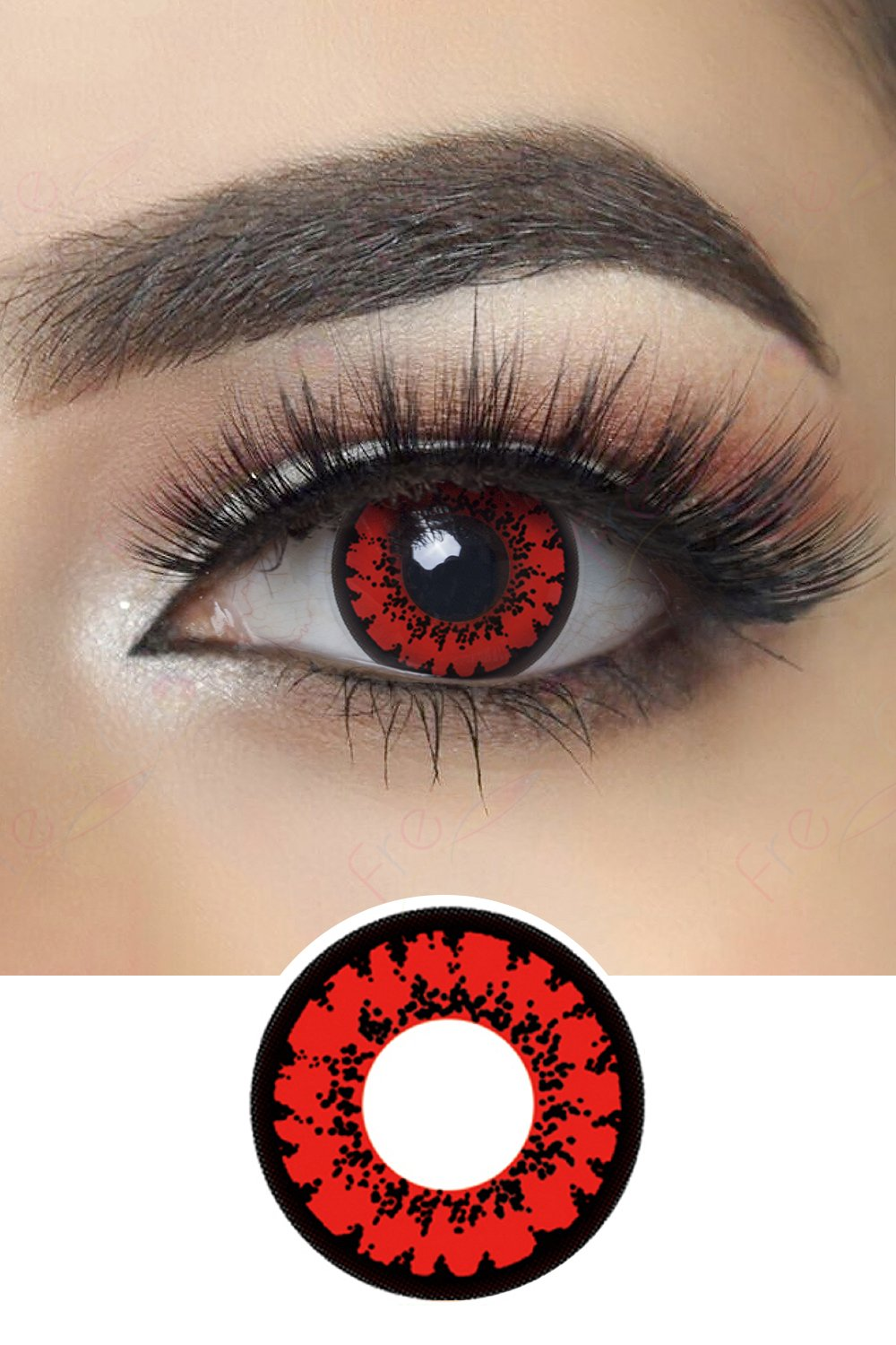 Red Mirage Halloween Contacts