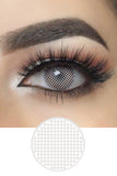 White Mesh Halloween Contacts
