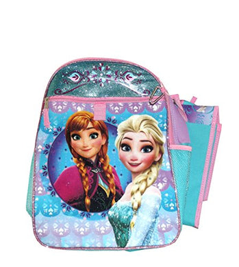 Disney Frozen Anna and Elsa Backpack School Set, 5 pieces