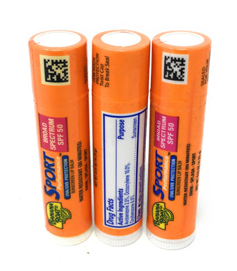 Banana Boat Sport Performance Lip Balm SPF 50 (3pcs)