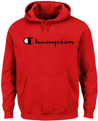 Champion Men's Big and Tall Script Logo Pullover Hoodie (1XL, Red)