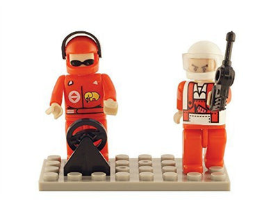 Brictek 2 Piece Race Car Driver Figures Set