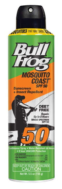 Bull Frog Mosquito Coast Spf50 Sunscreen & Repellant 5.5 Ounce (162ml)