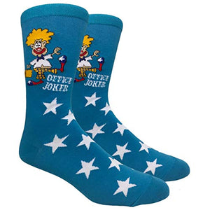 Novelty Fun Crew Print Socks for Dress or Casual (Office Joker #26)