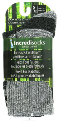 Bamboo Charcoal Socks Hiking Tall Small/Medium Grey