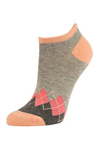 Women's Casual Cotton No Show Socks (6 Pairs) (9-11, G-MUL)