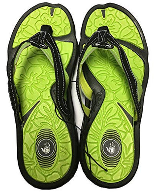 Body Glove Men's Avalon Flip Flop,Black/Yellow,7 M